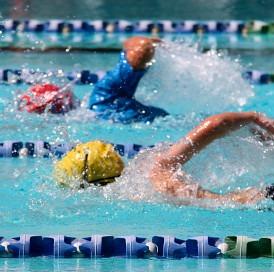 svømmere i bassin